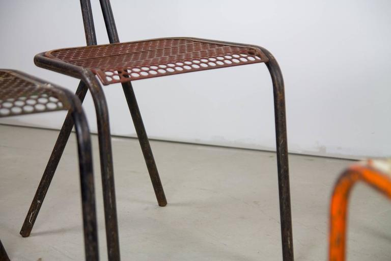Rare Set of Four Rene Malaval 'Radar' Chairs For Sale 1