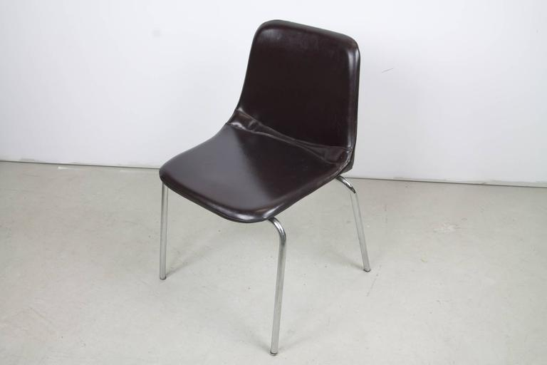 Italian Side Chairs by Ico Parisi for MIM Mobili For Sale