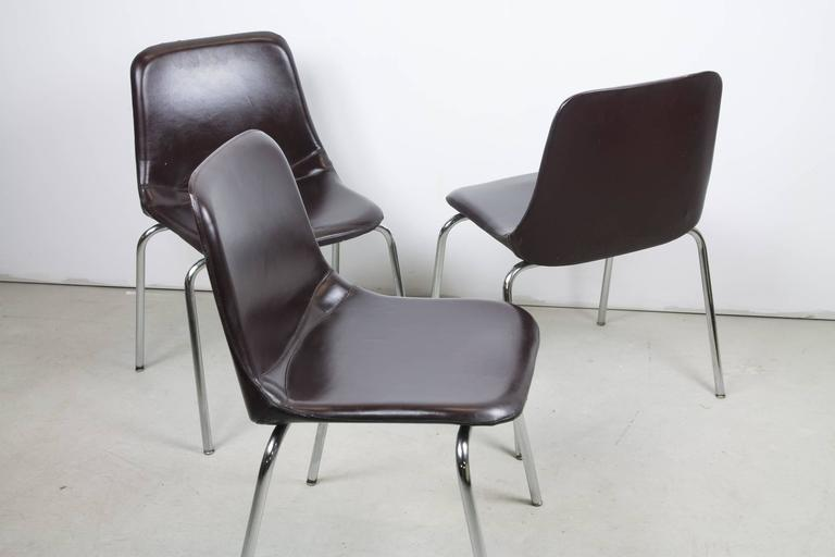 Mid-Century Modern Side Chairs by Ico Parisi for MIM Mobili For Sale