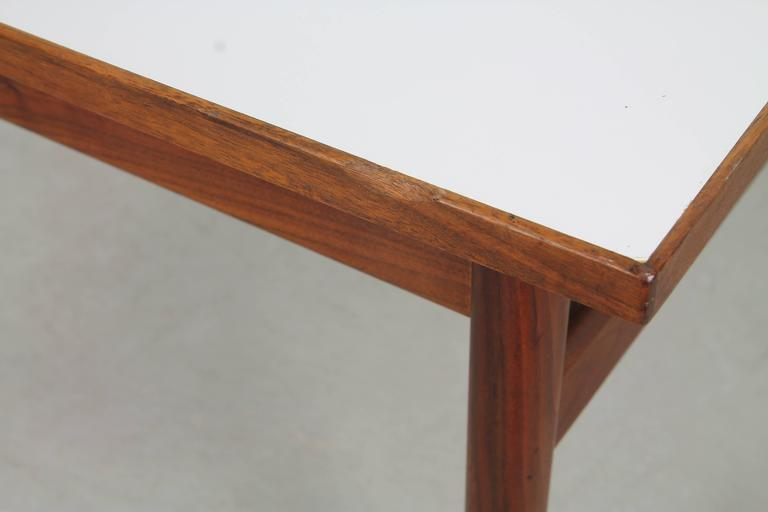 Mid-Century Modern Jens Risom Walnut and Laminate Coffee Table For Sale