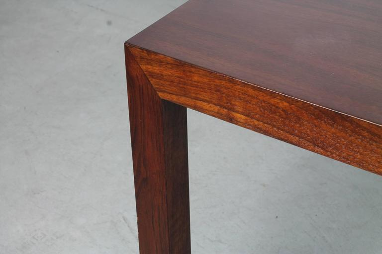 Mid-Century Modern Mahogany Parsons Table by Edward Wormley for Dunbar For Sale