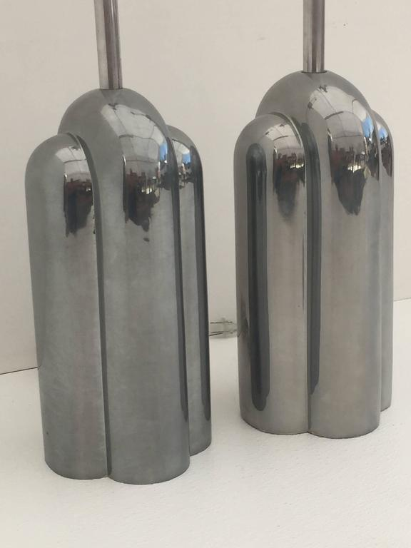 Polished Art Deco Style Streamline Lamps by Westwood For Sale