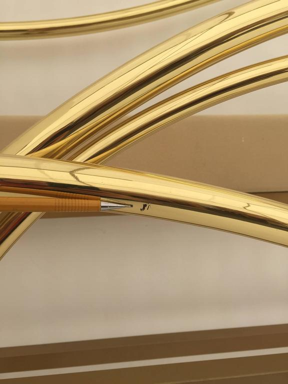 Swan Motif Art Nouveau Style Brass King-Size Bed For Sale 1