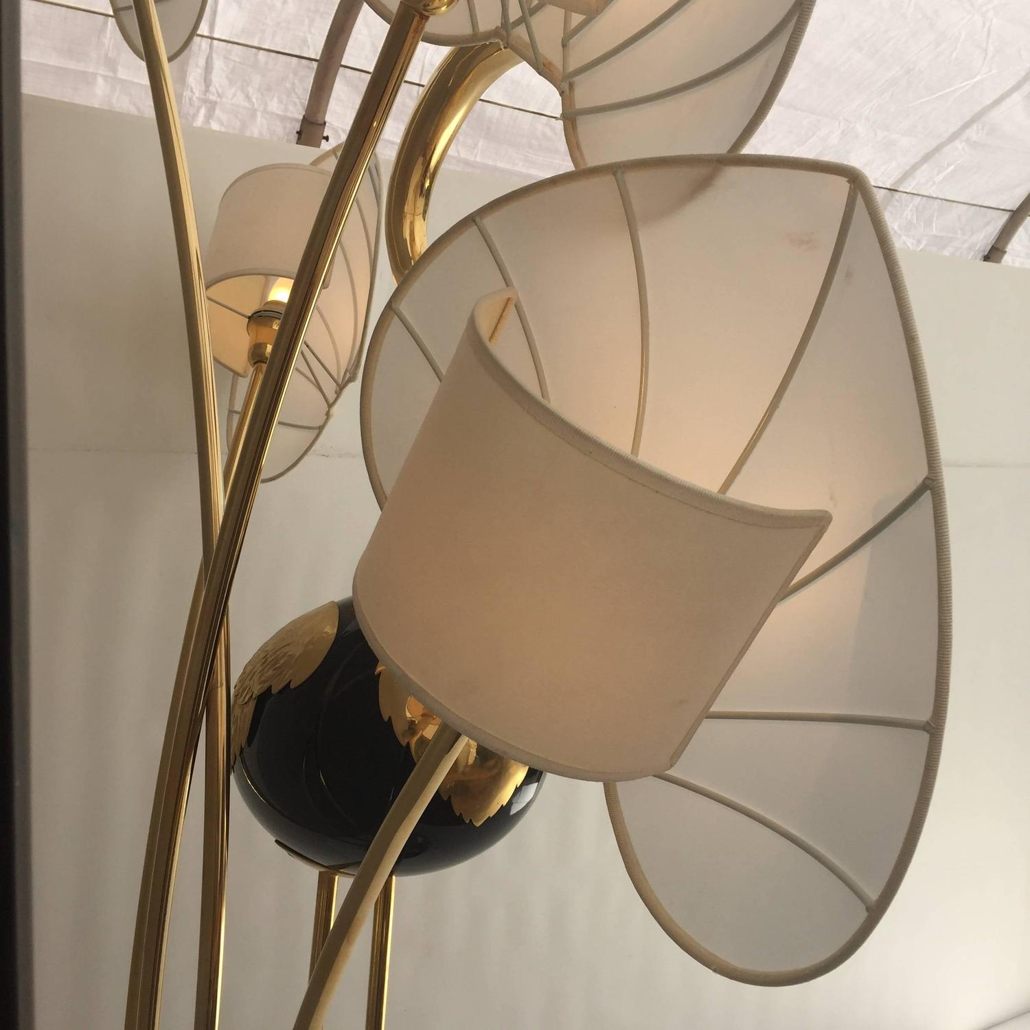 Monumental Brass Flamingo Floor Lamps In The Manner Of