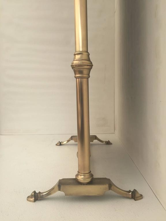 Neoclassical Brass Cheval Tilting Floor Mirror At 1stdibs