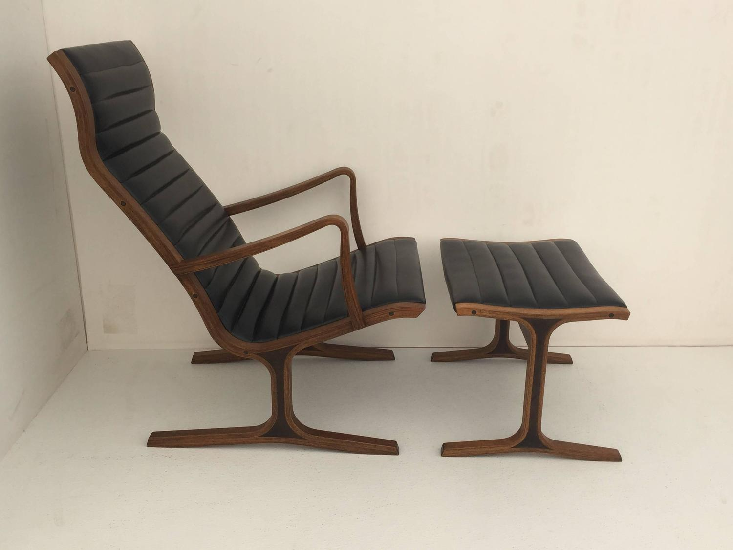 Heron Chair And Footrest By Tendo Mokko Japan For Sale At