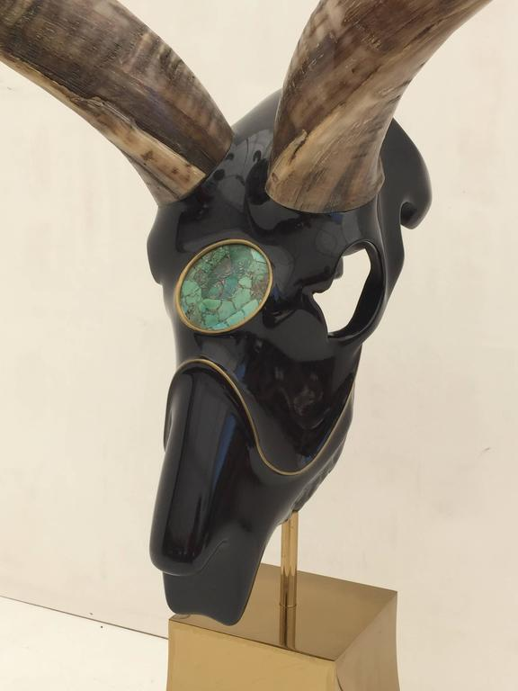Mid-20th Century Impressive Antelope Sculpture Style of Jacques Duval Brasseur For Sale