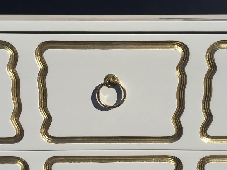 Espana Chest by Dorothy Draper in Cream Lacquer and Gold For Sale 1
