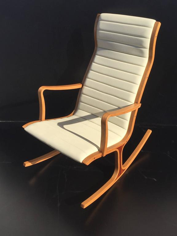 Tendo Mokko Heron Rocking Chair and Footrest for Kosuga Japan For Sale ...