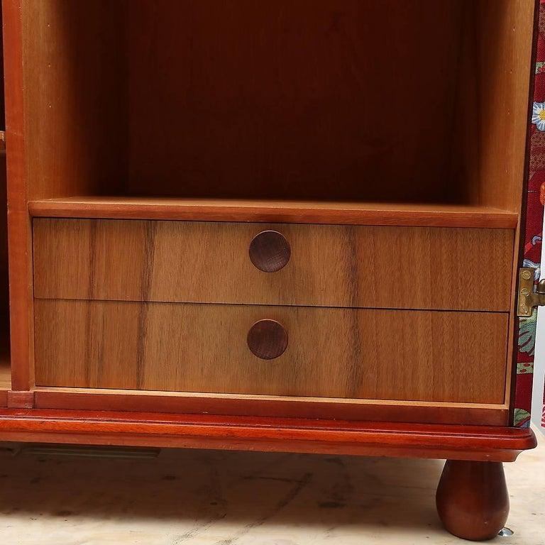 """Fabric Josef Frank """"Baranquilla"""" Upholstered Cabinet, Sweden, 1943-1945 For Sale"""
