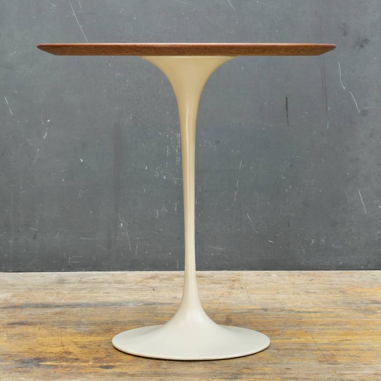 eero saarinen for knoll associates walnut tulip pedestal table 3