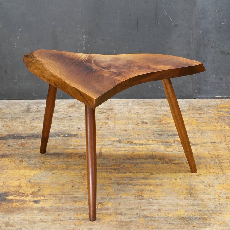 Adirondack Rustic Free Edge Slab Table For Sale At 1stdibs: Authenticated George Nakashima Wepman Live Edge Rustic