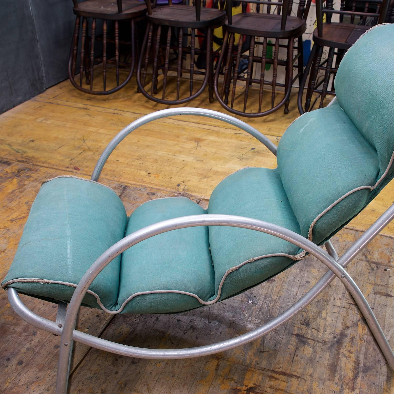 Machine Age Halliburton Neutra Lawn Lounge Chairs Pair