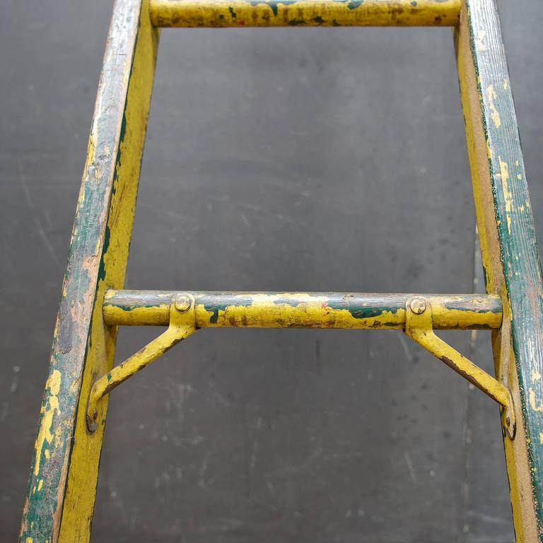Old Antique Baltimore City Lamplighters Yellow Ladder At
