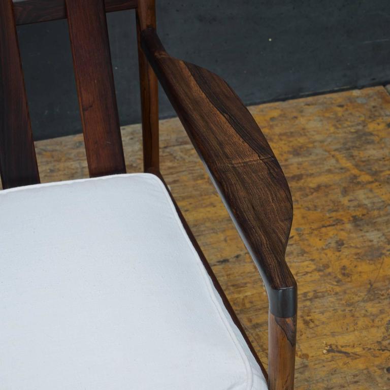 Mid-20th Century 1950s Kofod-Larsen Brazilian Rosewood Danish Pickett Lounge Chair Mid-Century For Sale