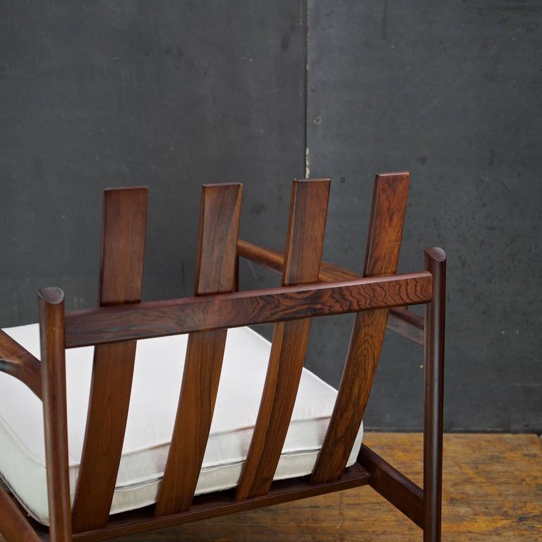 1950s Kofod-Larsen Brazilian Rosewood Danish Pickett Lounge Chair Mid-Century In Good Condition For Sale In Washington, DC