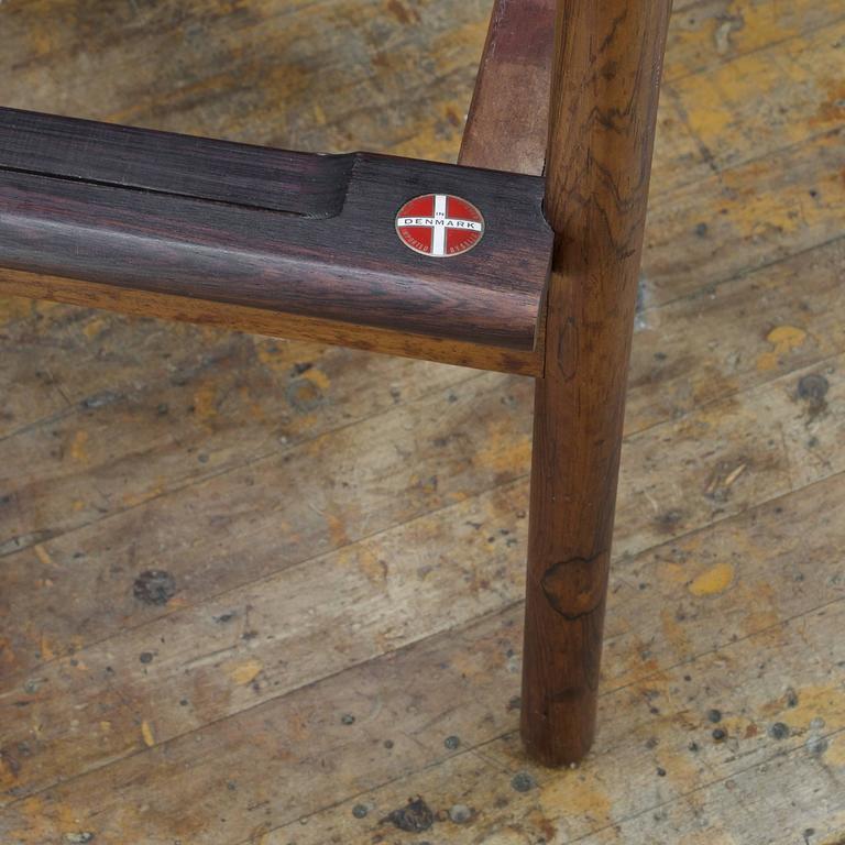 1950s Kofod-Larsen Brazilian Rosewood Danish Pickett Lounge Chair Mid-Century For Sale 1