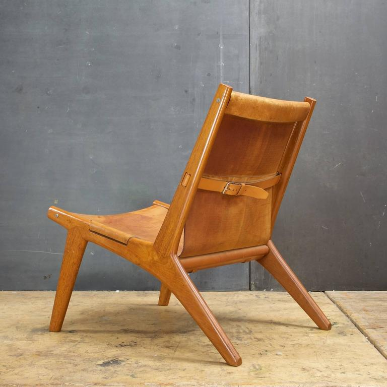 Designer Sling Chairs: Hunting Lounge Chair By Uno And Osten Kristiansson In Oak