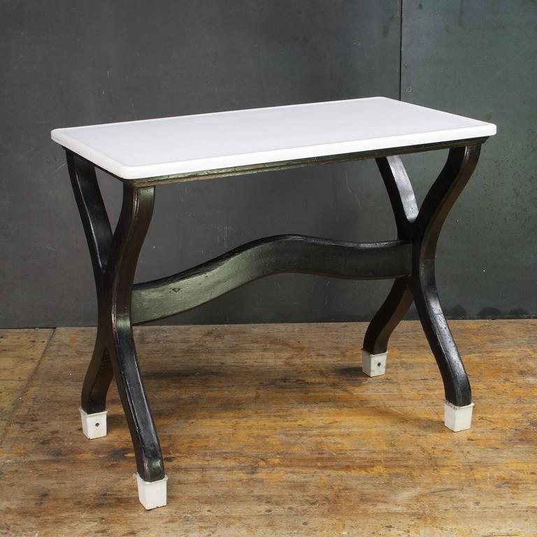 Victorian Farmhouse Seamstress Work Shop White Glass Table At 1stdibs