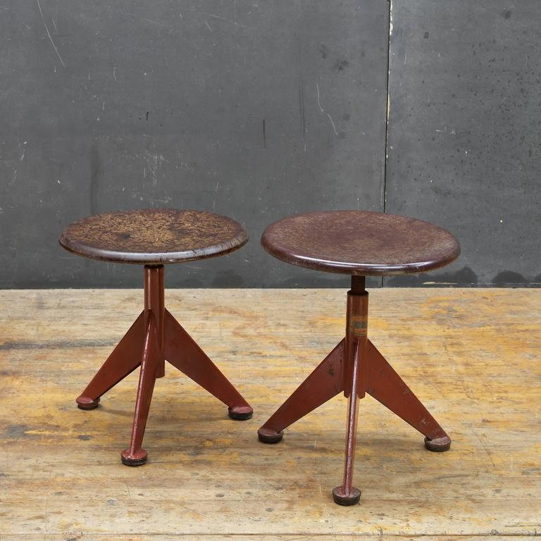 Early Atomic Industrial Workshop Stool By Ab Odelberg