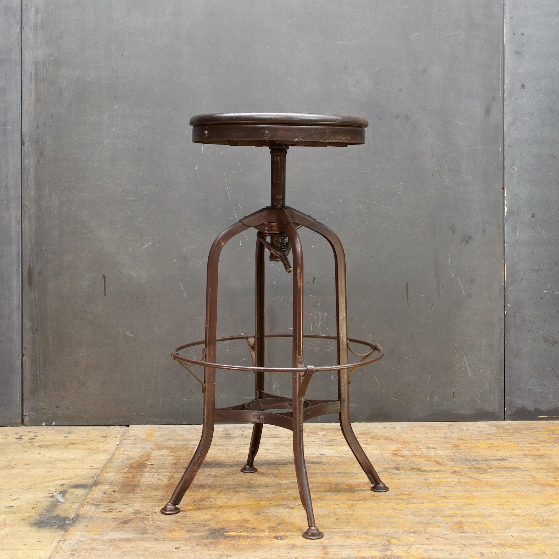 Vintage Toledo Industrial Factory Workshop or Bar Stool Adjustable at 1stdibs
