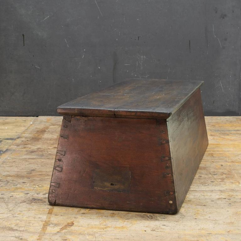 Blackened American Primitive Wooden Monolith Step or Shelf Display For Sale