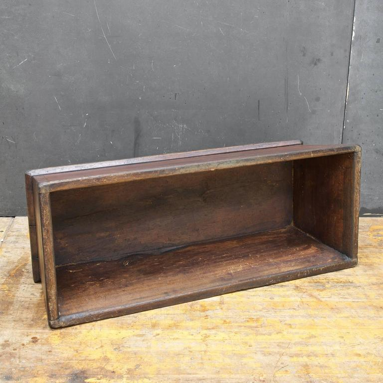 American Primitive Wooden Monolith Step or Shelf Display For Sale 2