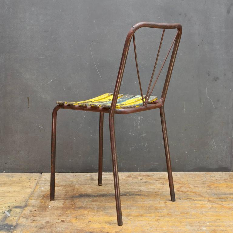 Mid Century Modern Antique 1920s French Bistro Cafe Or Poolside Chair Vintage