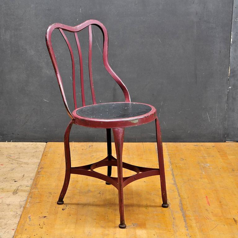 1920s Toledo art metal company ice cream cafe accent chair. Only one available. & 1920s Toledo Art Metal Company Ice Cream Cafe Accent Chair For Sale ...