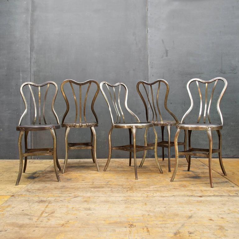 Industrial Vintage Toledo Metals Company Rare Dining Chairs. Set Of