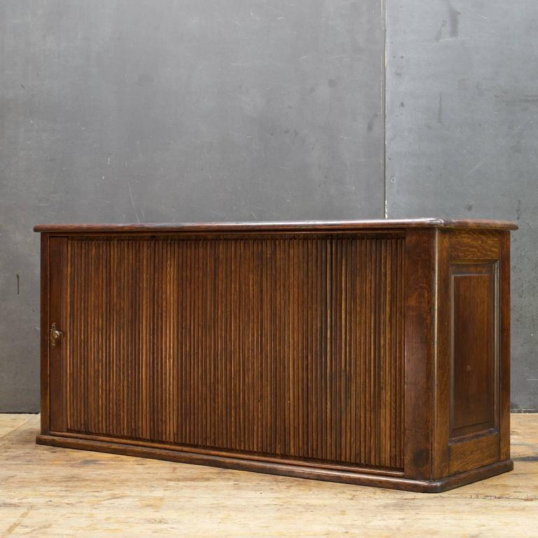 American Victorian Hotel Pigeonhole Tambour Cabinet Tabletop Mail Slot  Credenza Boho Chic For Sale