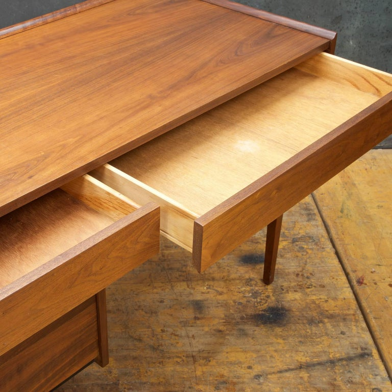 Vintage Midcentury Walnut Desk By Milo Baughman For