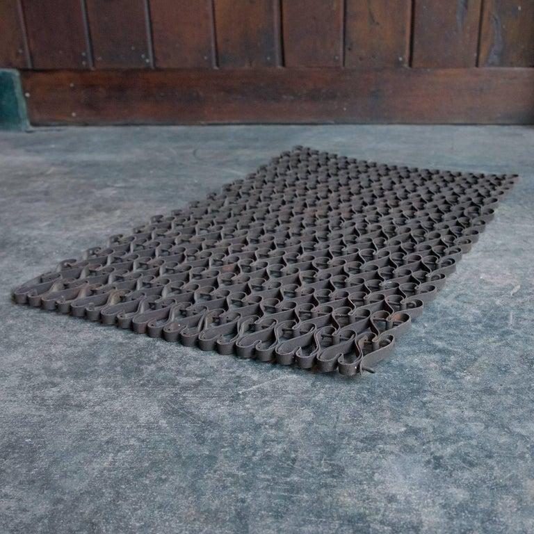 Adirondack Rustic Cabin Modern Victorian Heart-Shaped Metal Link Door Floor Mat Wall Art For Sale