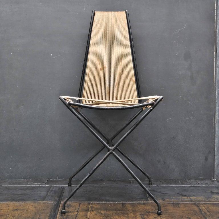 Mid-Century Modern Rare 1950s Detroit Modernist Iron Chair Original Studio Craft McCobb Eames Era