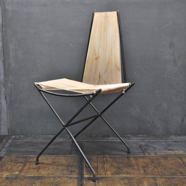 American Rare 1950s Detroit Modernist Iron Chair Original Studio Craft McCobb Eames Era