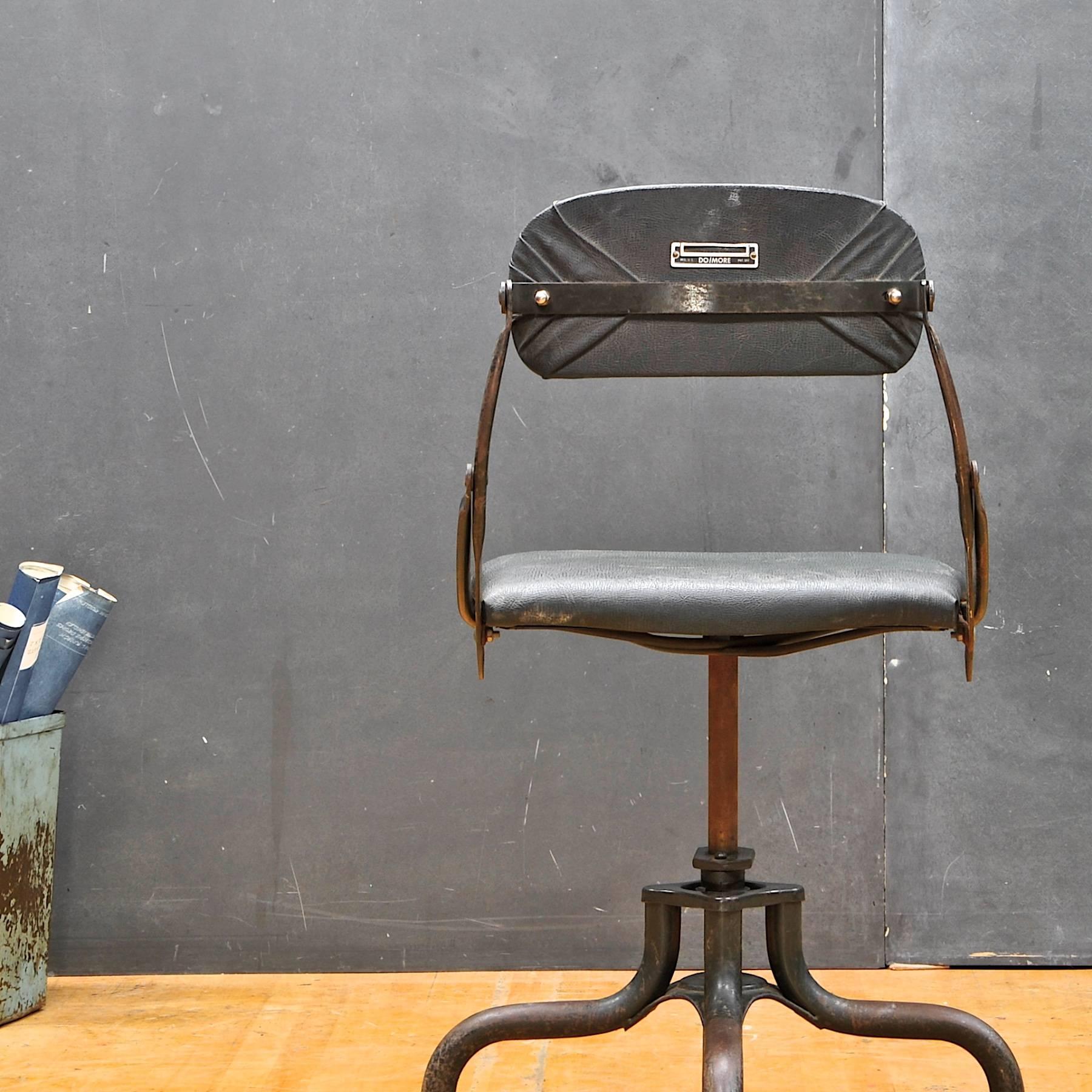 original upholstery vintage industrial clerks swivel desk chair rh 1stdibs com industrial desk chair australia industrial desk chairs