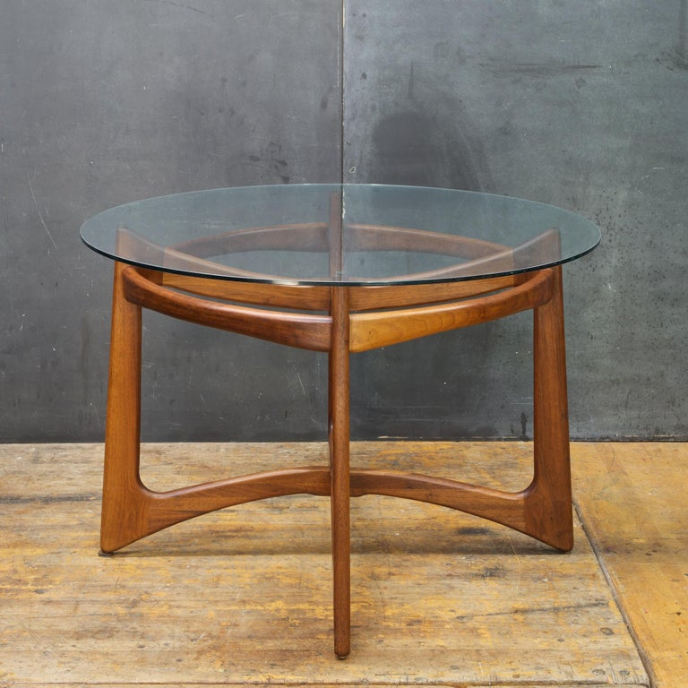 Mid Century Modern Adrian Pearsall Walnut Table Black Chairs Dining Set Kitchen Nook Mad Men