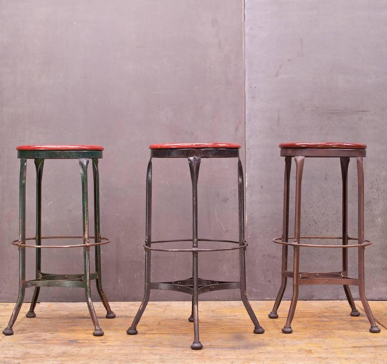 Vintage 1930s Toledo Metals Company High Stools At 1stdibs