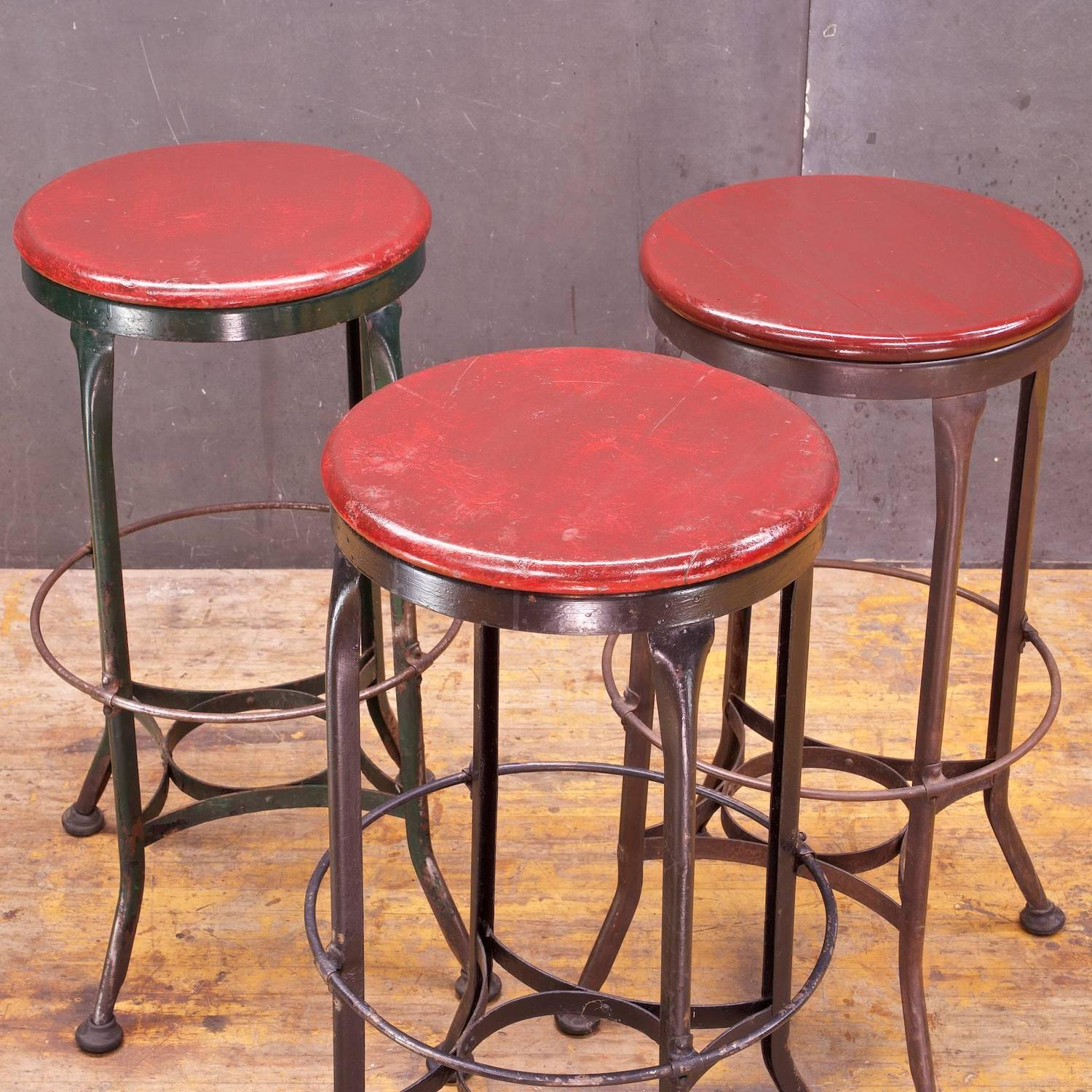 Vintage 1930s Toledo Metals Company High Stools For Sale