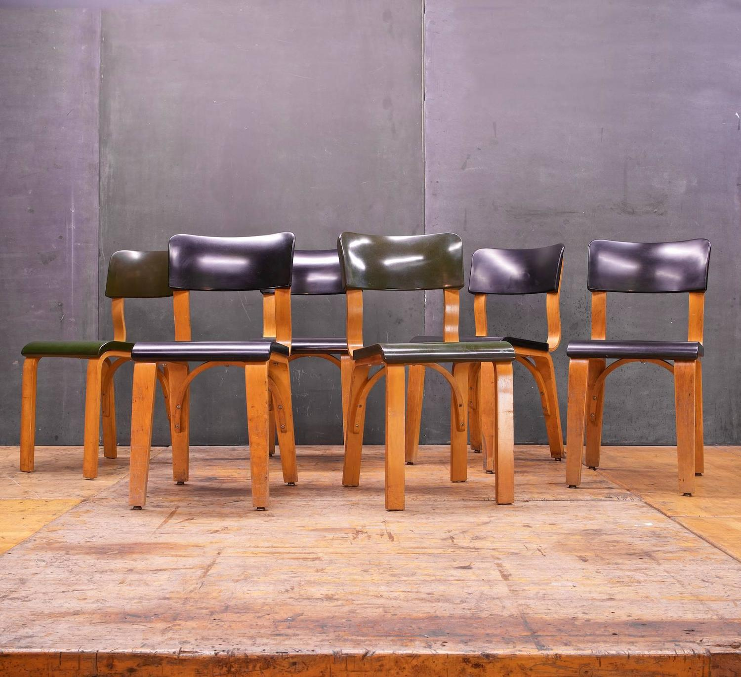 Rare Bakelite And Bentwood Thonet Dining Chairs At 1stdibs