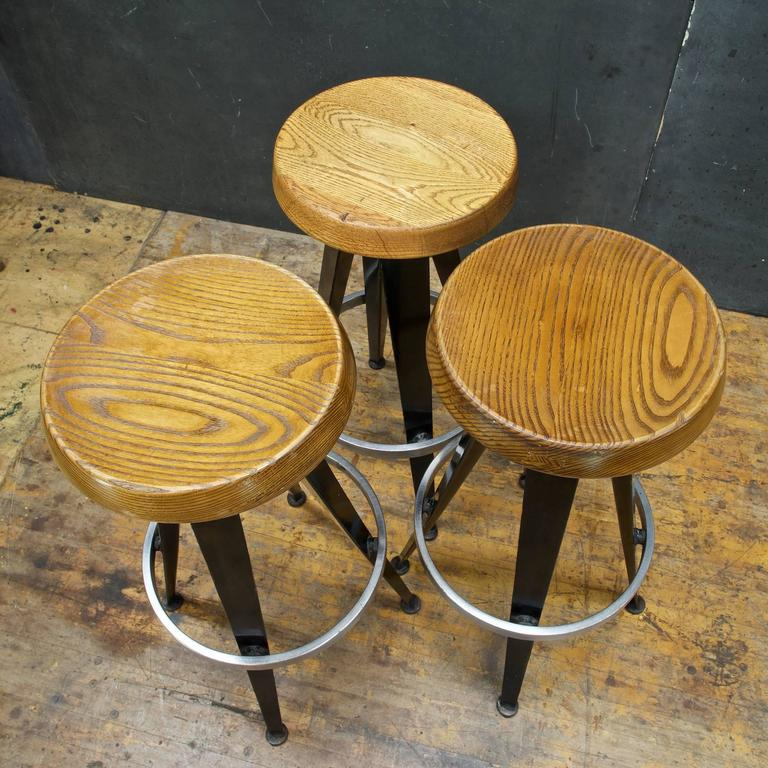 Mid Century French Modernist Atomic Bar Stools At 1stdibs