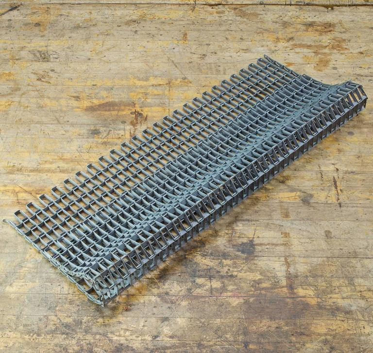 American Architectural Salvage Linked Metal Industrial Door Mat For Sale