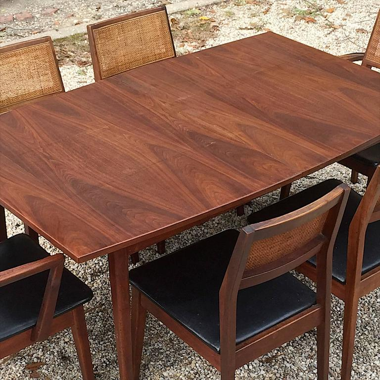 Late 1950s Classic American Modernist Solid Walnut Hibriten Dining Set 2