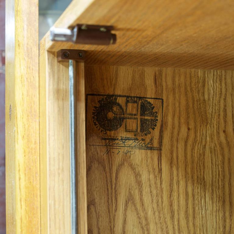 Post Modern Lou Hodges California Design Group Wall Unit Desk Oak Cabinet In Good Condition For Sale In Washington, DC