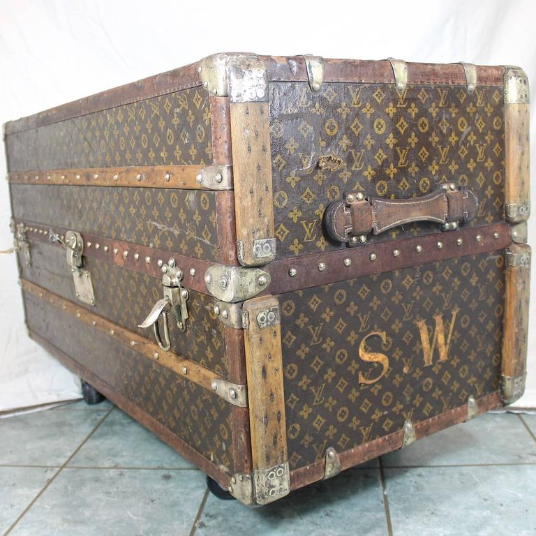 Louis Vuitton Trash Bags 1920s sybil whigham estate louis vuitton steamer wardrobe trunk