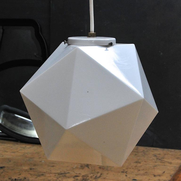Mid Century Vintage Lights For Sale: Vintage Mid-Century George Nelson Attr'd Faceted Geometric