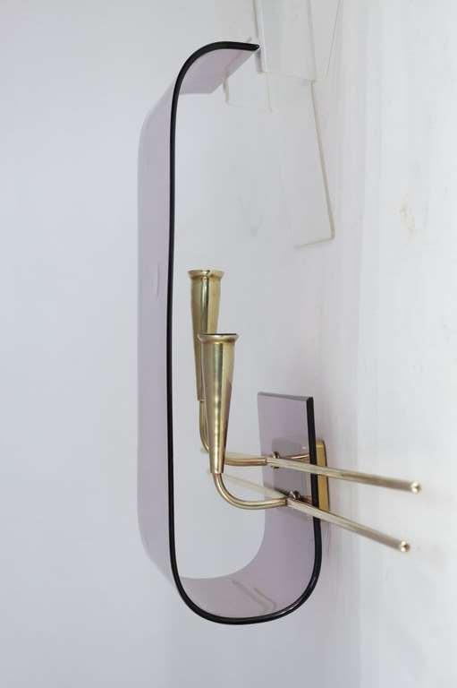Pair of 1960's Asymmetrical Altuglass Sconces For Sale 2