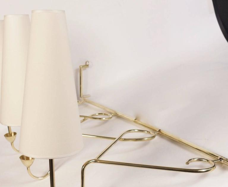 Mid-20th Century Large 1950s Sconce Attributed to Stilnovo For Sale