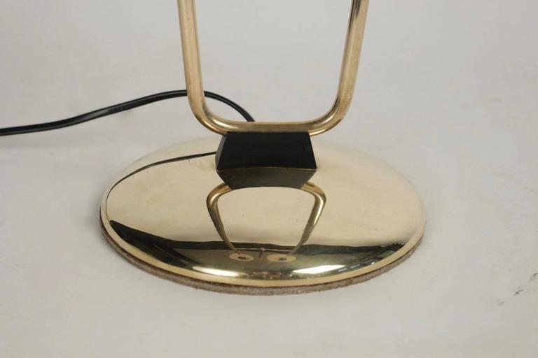 1950s Buckle Floor Lamp by Maison Lunel 4