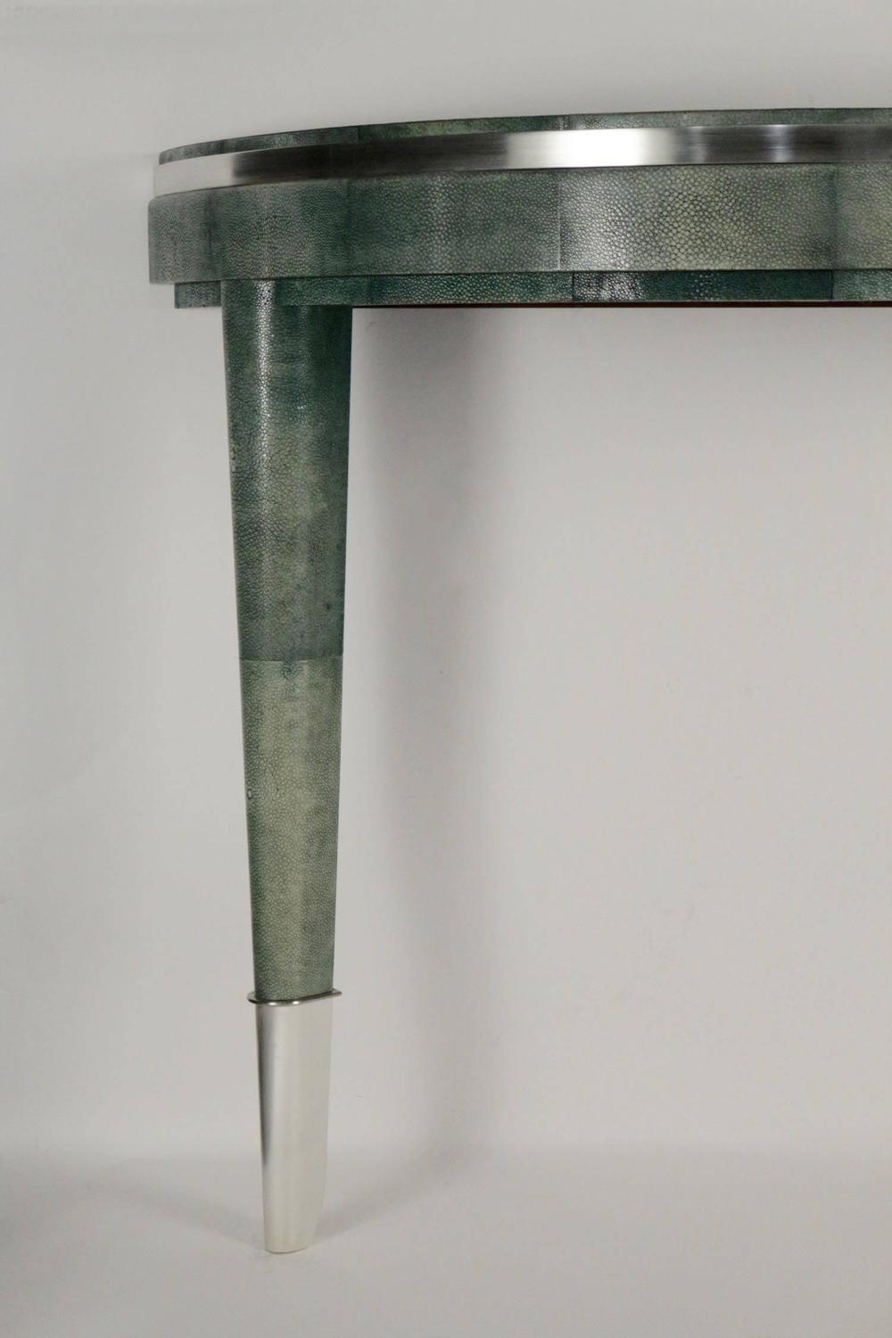 Half Moon Console Table Shagreen 1970 For Sale At 1stdibs